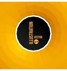 abstract yellow and black background vector image