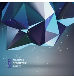 Bright blue polygon geometry shape vector
