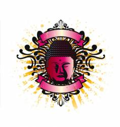 Buddha crest vector image vector image