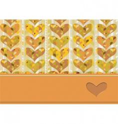 card hearts vector image