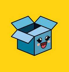 Carton box character delivery packing vector