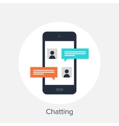 Chatting vector image