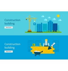 Construction of Building Concept vector image vector image