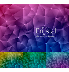 crystal abstract background 6 vector image vector image