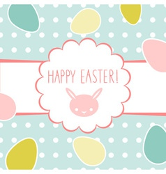 Easter greeting decorative postcard vector