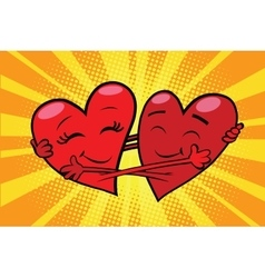 Eternal love red hearts valentines vector