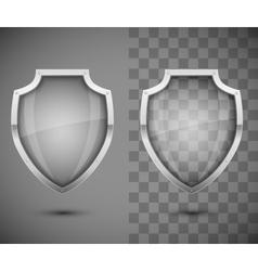 Glass transparent shield vector