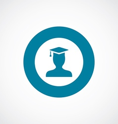 Graduate student icon bold blue circle border vector