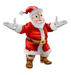 happy cartoon santa vector image