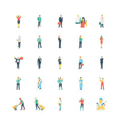 Human color icons 7 vector
