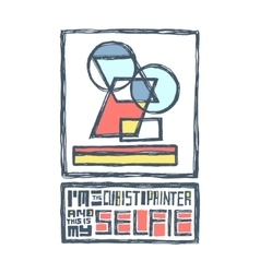 I am a cubist painter and this is my selfie vector