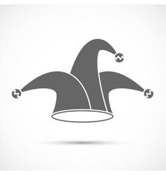Jester hat icon vector