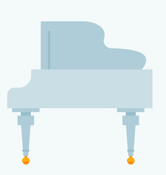 keyboard musical instrument classical white vector image vector image
