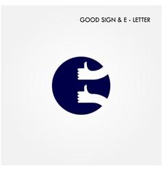 Letter e icon logo vector