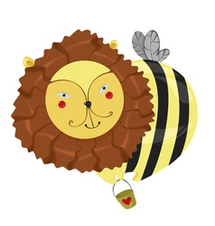 lion bee vector image vector image