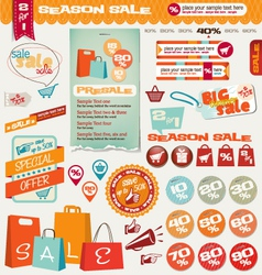 sale labels banner icons vector image vector image