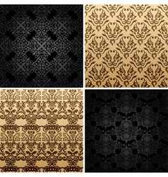 seamless set four vintage backgrounds ornament dec vector image vector image