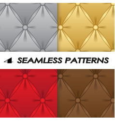 Set of seamless patterns with soft upholstery vector