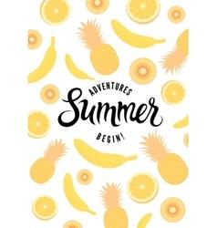 Summer calligraphic retro poster vector image vector image