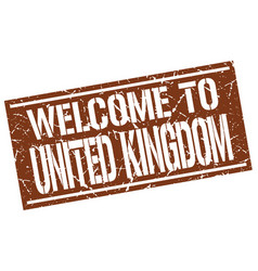 Welcome to united kingdom stamp vector