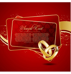 with wedding rings vector image
