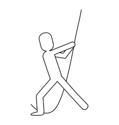 Man pictogram pulling rope icon vector