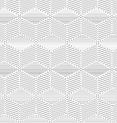Slim gray triangle spirals forming rounded cubes vector