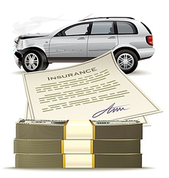 Money for the broken car vector image