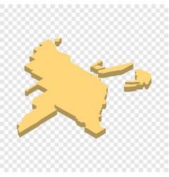 Map of miami isometric icon vector