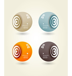 Four colored speakers with place for your own text vector