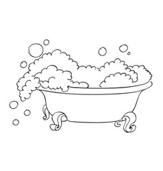 Cartoon image of bathtub vector
