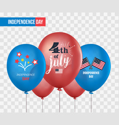 Holiday balloons isolated on transparent vector