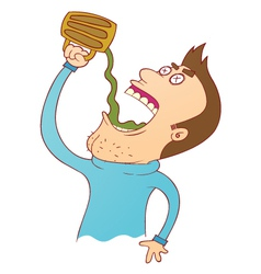 drinking until die vector image