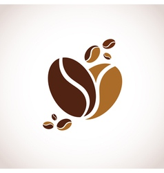 Coffee Heart Symbol vector image