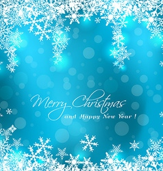 Merry christmas blue card vector