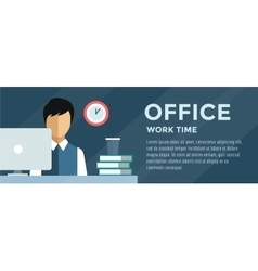 Manager man on work place vector