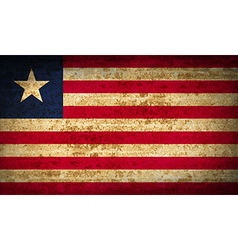 Flags liberia with dirty paper texture vector