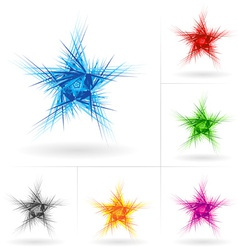 Set of abstract stars vector