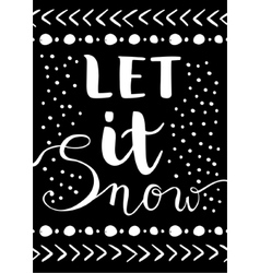 Let it snow christmas card vector