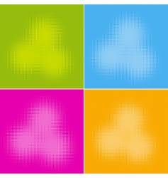 halftone backgrounds vector image