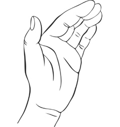 Hands with open palm vector