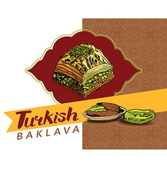 Turkish baklava 3 vector