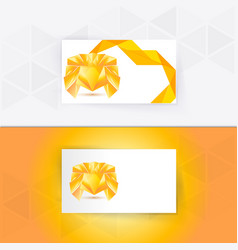 Abstract blank name card template for business vector