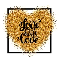 Abstract shine heart sparkles vector image vector image