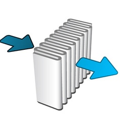 air filter effect icon vector image vector image