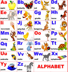 Alphabet cards background vector