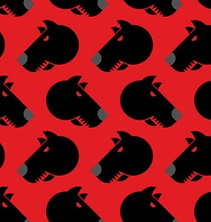 Angry dog seamless pattern background of vector