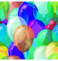 Balloon low poly patter vector