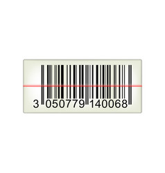 Bar code with laser light vector