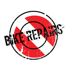 Bike repairs rubber stamp vector